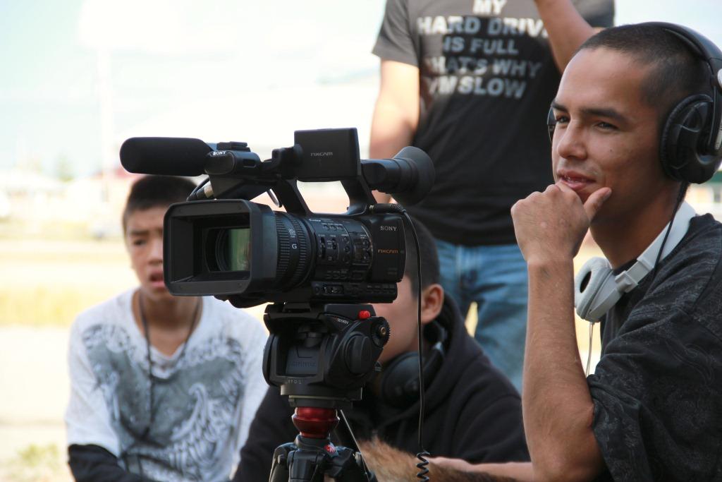 Aboriginal youth film crew