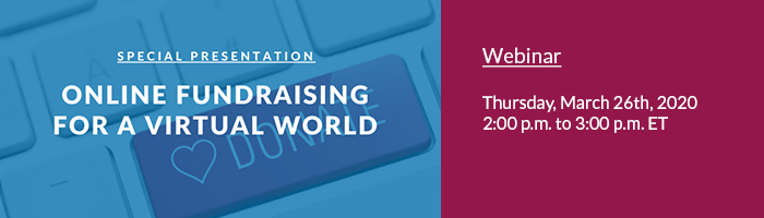 Online Fundraising for a Virtual World webinar banner