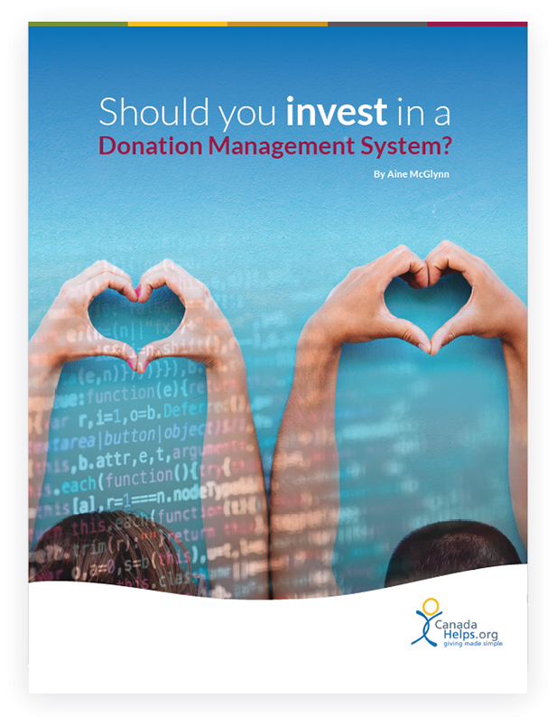 White Paper cover with text 'Should You Invest in a Donor Management System?'