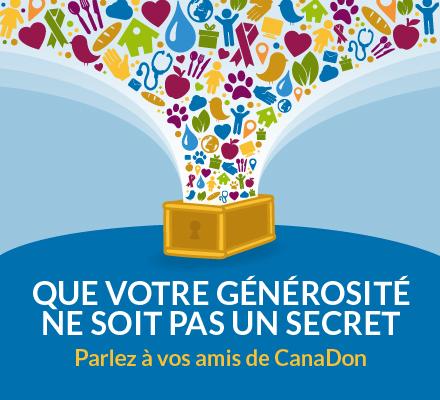 Donnez un peu plus. Parlez à vos amis au sujet de CanaDon et inspirez-les eux aussi!