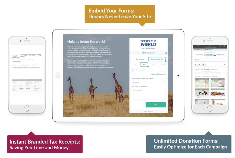 Customizable donation forms canadahelps donate to any charity raise more with customizable donation forms altavistaventures Images
