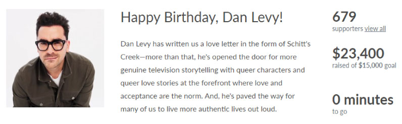 Dan Levy Fundraiser