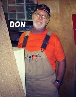 Volunteer Don Warden