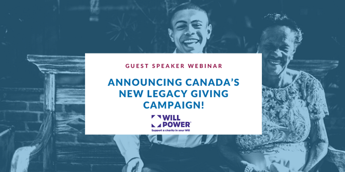 Announcing Canada's New Legacy Giving Campaign webinar education page banner