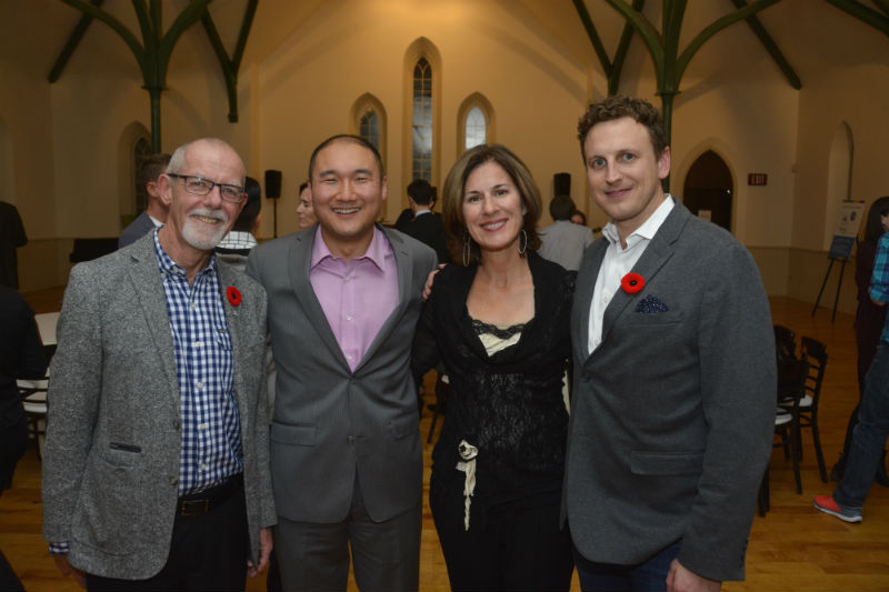 From left to right: CanadaHelps Board Chair Patrick Johnston, CanadaHelps Founder Matthew Choi, CanadaHelps CEO Marina Glogovac, CanadaHelps Founder Ryan Little.