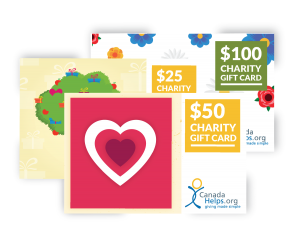 CanadaHelps Charity Gift Cards!