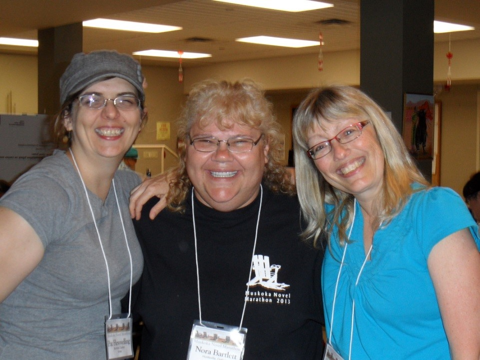 Pat (left) with Nora (centre) and Nancy from the YMCA of Simcoe-Muskoka