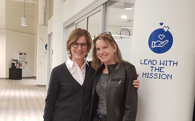 CanadaHelps CEO with Lys Hugessen, new VP, Partnerships and Special Projects