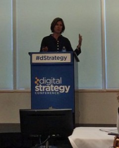 Marina at Digital Strategy Conference