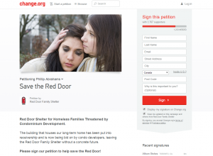 Save the Red Door Petition Page