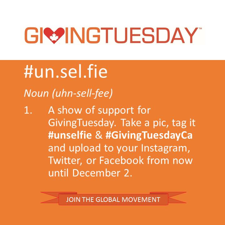 GivingTuesday #Unselfie
