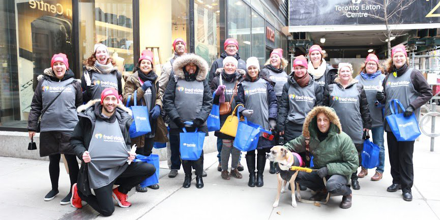 Fred Victor street team in Toronto for GivingTuesday 2018